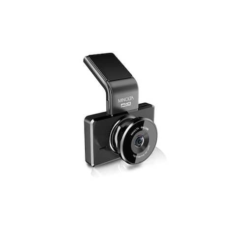 "Minolta Full HD 1080p Wide Angle Car Dashboard Camera with G-Sensor, Loop Recording, 3"" LCD & Advanced Driver Assistance (Black)"