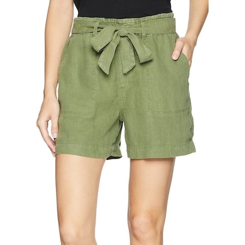 Sanctuary Women's Shorts Cadet Green Size Large L Belted Linen Solid