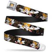 Sonic Classic tails Waving Pose Close Up Full Color Black Orange Tails Seatbelt Belt