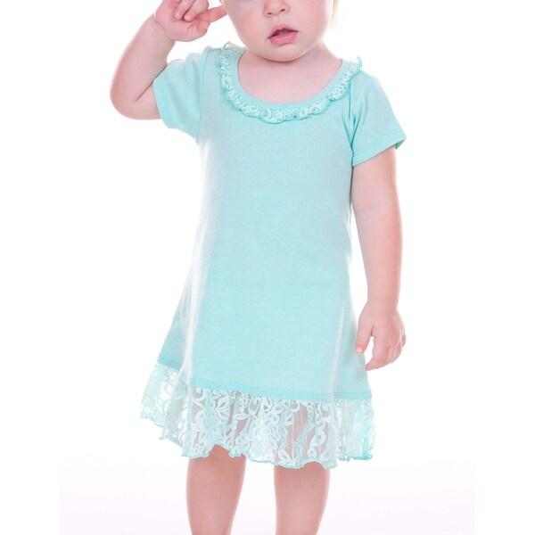 Kavio! Infants Lace Trim A-Line Short Sleeve Dress