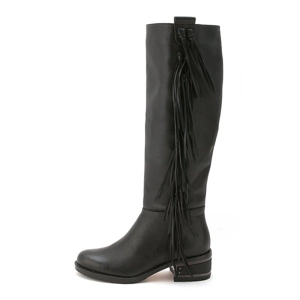 Carolinna Espinosa Womens DARELL Leather Round Toe Knee High Fashion Boots - 5.5