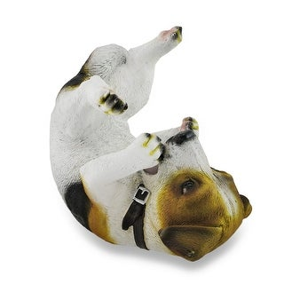 Jack Russell Terrier Wine Holder Bottle Display Sculpture - 7.5 X 7.75 X 4.5 inches