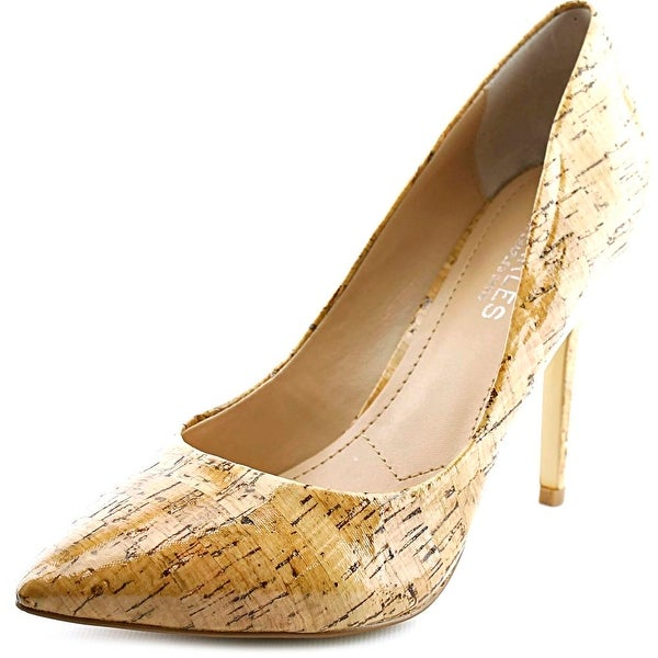 Charles By Charles David Pact Women Pointed Toe Canvas Nude Heels