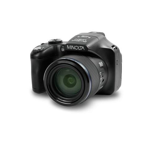 "Minolta 20 Mega Pixels High Wi-Fi Digital Camera with 67x Optical Zoom, 1080p HD Video, 3"" LCD (Black)"