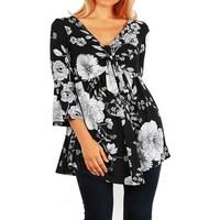 6d4106aba59776 Shop Funfash Women Plus Size Black Lace Empire Waist Plus Size Top ...