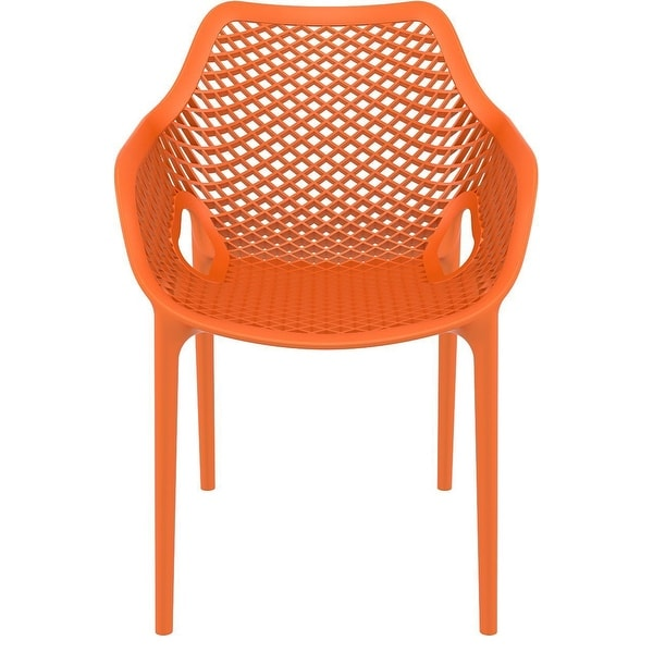 Compamia Air XL Outdoor Dining Arm Chair Set of 2 - Orange