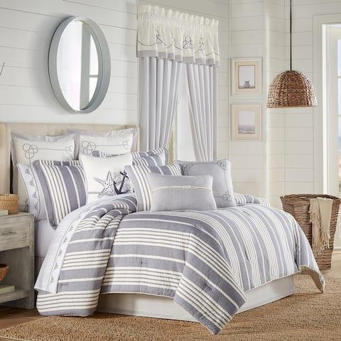 Five Queens Court Simona Coastal 4 Piece Comforter Set