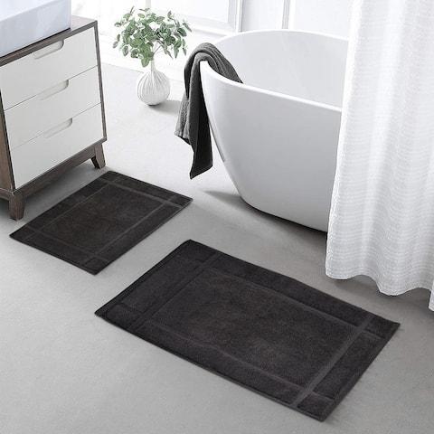 """Ample Decor Cotton Bath Mat, Thick Soft,1350 GSM (24""""X17"""") (34""""X20"""")"""