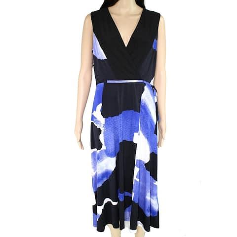 DKNY Blue Sleeveless Below The Knee Dress 14