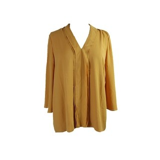 Alfani Gold Ruffle-Trim V-Neck Blouse 12