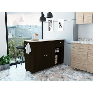 Link to TUHOME Victoria Kitchen Island cart Similar Items in Kitchen Furniture