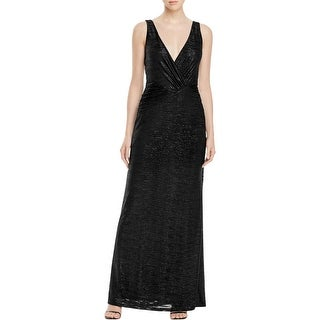 Laundry by Shelli Segal Womens Evening Dress Shimmer Textured