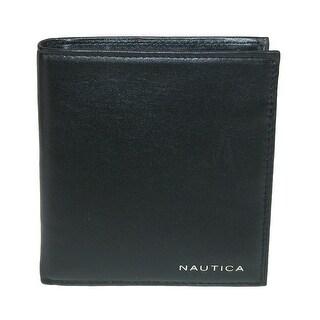 Nautica Mens Leather Bifold Organizer Wallet - One size