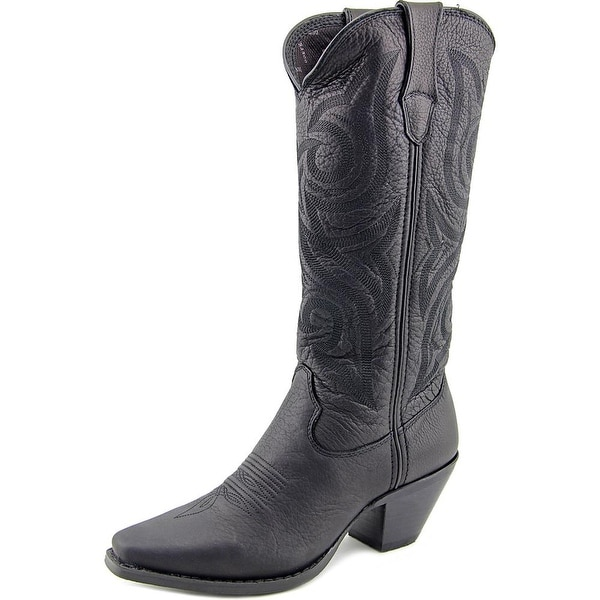 Durango Crush Women Square Toe Leather Black Western Boot