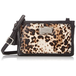 Nine West Womens Table Treasures Tri Faux Leather Crossbody Handbag - capri breeze - SMALL