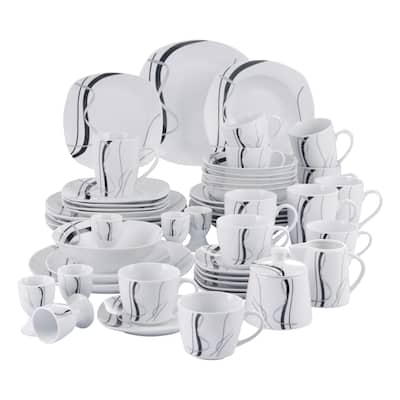 VEWEET 'Fiona', 50-Piece Ceramic Dinner Set, Service for 6