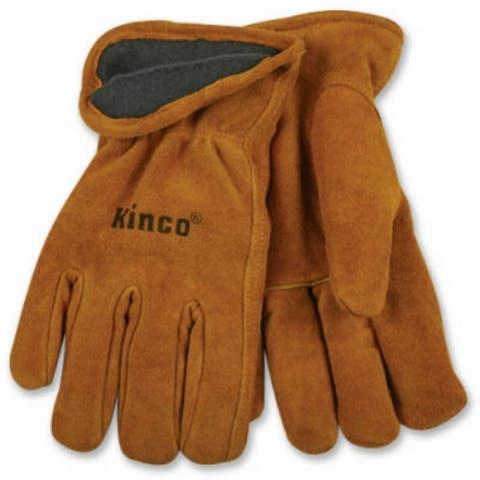 Kinco 50RL-L Men's Lined Full Suede Cowhide Leather Glove, Large