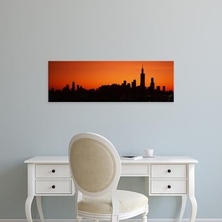Easy Art Prints Panoramic Images's 'Cityscape at sunrise, Chicago, Cook County, Illinois, USA' Premium Canvas Art