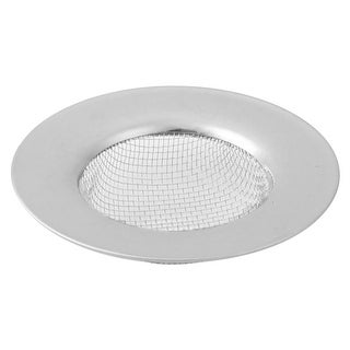 Home Metal Round Washing Vegetable Drainer Sink Strainer Silver Tone 7.7cm Dia