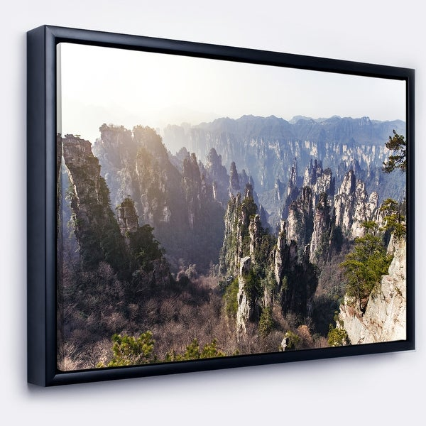 Designart 'Zhangjiajie National Forest Park' Landscape Framed Canvas Art Print. Opens flyout.