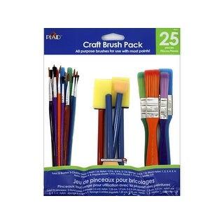 Plaid Craft Brush Pack 25pc