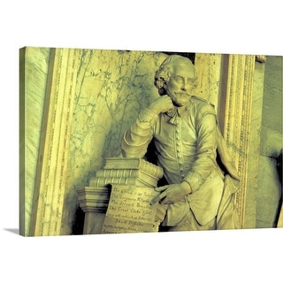 """""""Shakespeare's monument in Westminster Abbey, Westminster, London, England"""" Canvas Wall Art"""