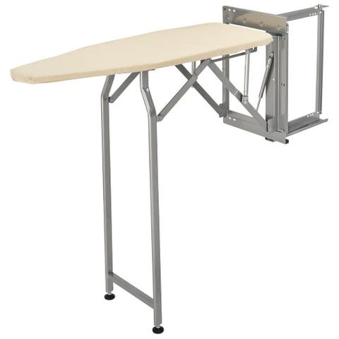 "Rev-A-Shelf CSWIBSL-14-1 Sidelines 38"" Pop-Up Ironing Board - Silver"