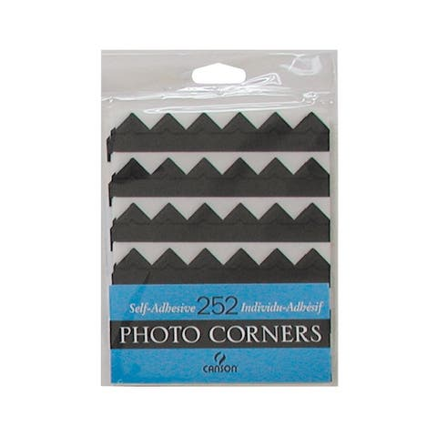 Canson c100510395 archival self-adhesive photo corners black