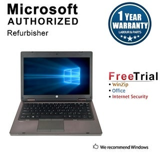Refurbished HP ProBook 6460B 14.0'' Laptop Intel Core i5-2520M 2.5G 4G DDR3 250G DVDRW Win 10 Pro 1 Year Warranty - Black