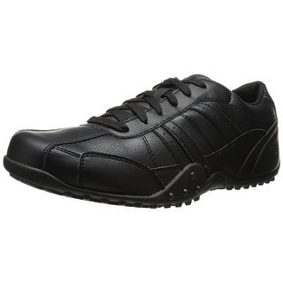 Skechers for Work Men's Elston Relaxed Fit Resistant Work Shoe, Black