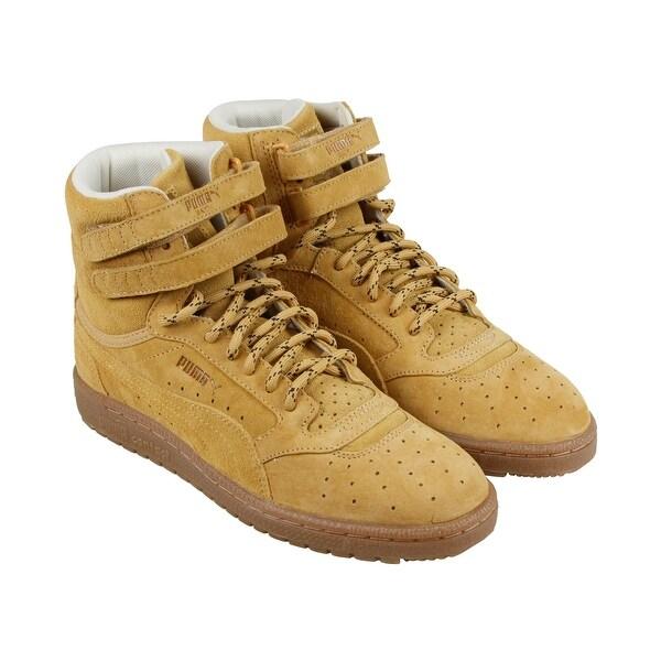 b311cf2b297a Puma Sky Ii Hi Winterized Mens Tan Suede High Top Lace Up Sneakers Shoes
