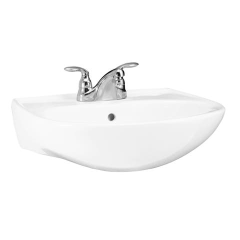 "Sterling 446121 Sacramento 21-1/4"" Pedestal Bathroom Sink With One Hole Drilled And Overflow"