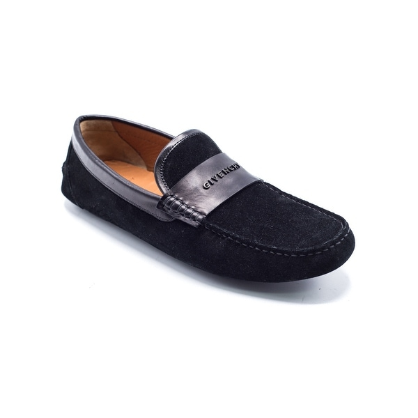 30ed4a6f61f Shop Givenchy Mens Black Suede Penny Loafers - Free Shipping Today ...