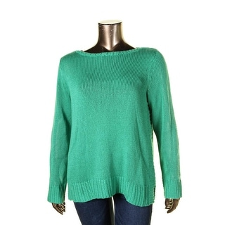 Lauren Ralph Lauren Womens Plus Pullover Sweater Boatneck Knit