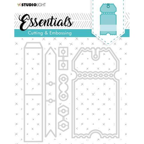 Embossing Die Cut Stencil Essentials nr.276 - White - Medium