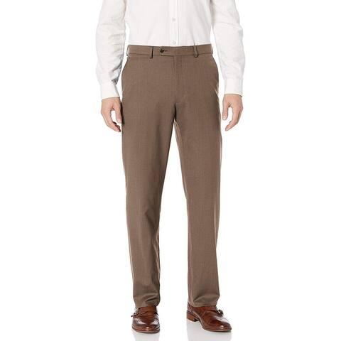 Hart Schaffner Marx Mens Brown Size 40X30 Dress Pants Flat Front