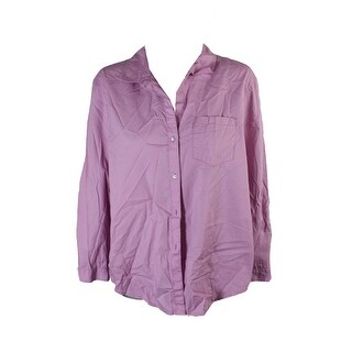 Calvin Klein Jeans Mauve Long-Sleeve Cotton Pocketed Shirt M