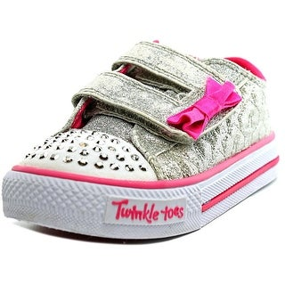 Twinkle Toes By Skechers S Lights-Shuffles-Starlight Style Toddler Silver