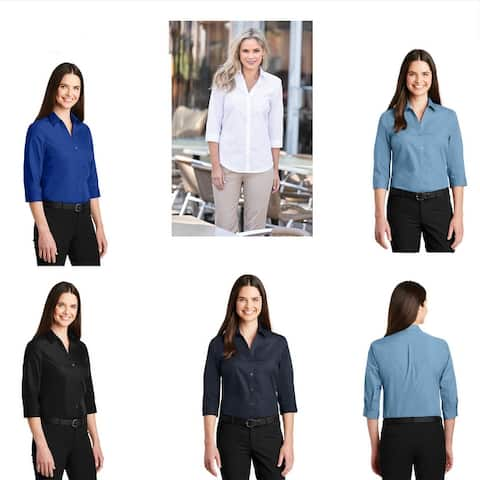 Women's Lightweight 3/4 Sleeve Shirt Assorted Colors
