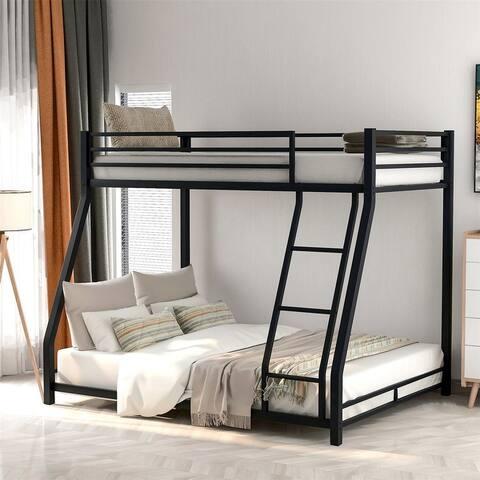 Merax Twin over Full Metal Floor Bunk Bed