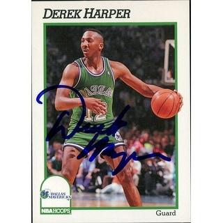 Signed Harper Derek Dallas Mavericks 1991 NBA Hoops Basketball Card autographed