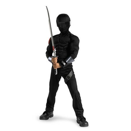 Disguise G.I. Joe Snake Eyes Classic Muscle Child Costume - Black