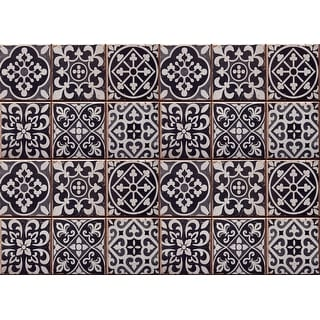 "Brewster CR-67253  Home Decor Line 25-1/2"" x 18-1/2"" - Azulejos - Peel & Stick Vinyl Kitchen Backsplash Panel - Black"