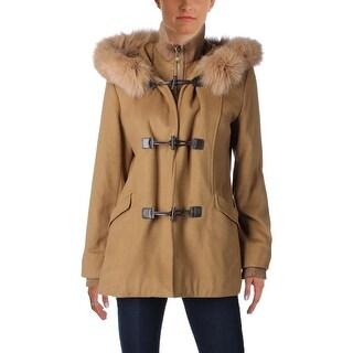 George Simonton Womens Coat Fur Trim Layered