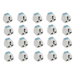 Box of 20 European (EU) to American (US) Outlet Wall Plug Adapter