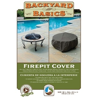 "Backyard Basics 07109GDBB Firepit Cover, 30""x20"""
