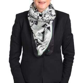 Versace Printed Silk Scarf shawl Green-Black