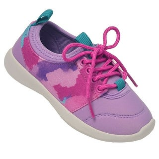 Chooze Girls Pink Lilac Heart Lace-Up Closure Trendy Sneakers