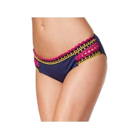 Becca Womens Scenic Route Scalloped Crochet Trim Swim Bottom Separates