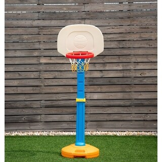 Costway Kids Children Basketball Hoop Stand Adjustable Height Indoor Outdoor Sports Toy - as pic